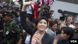 Perdana Menteri Thailand Yingluck Shinawatra yang telah diberhentikan Mahkamah Agung atas tuduhan nepotisme.
