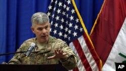 스티브 워런 미 주도 연합군 대변인. (자료사진)
