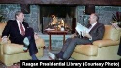 دیدار رونالد ریگان و میخائیل گورباچف یک سال پیش از نشست دو رهبر در ایسلند