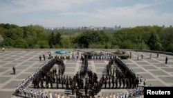 Церемония в честь 73-й годовщины окончания Второй мировой войны в Европе. Киев. Архивное фото.