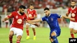 Les joueurs d'Al Ahly contre Etoile du Sahel à Sousse, le 1er octobre 2017.