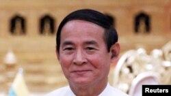 被軍方解職的緬甸總統溫敏(路透社)