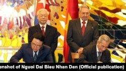 Hai đảng cộng sản của Việt Nam và Cuba ký kết thỏa thuận hợp tác, cuối tháng 3/2018
