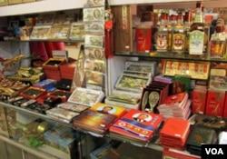 丹东商店出售的朝鲜商品