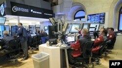 На Нью-йоркской фондовой бирже.