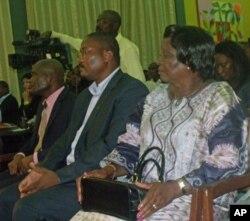 Aspecto da audiência, durante o lançamento do livro de Siona Casimiro