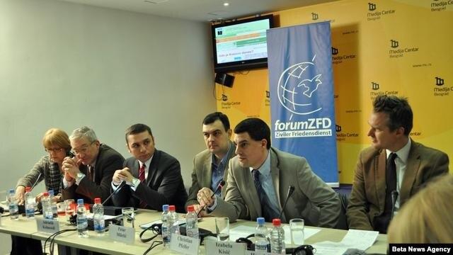 """Skup """"Gde je Kosovo danas?"""" održan je u Medija centru u Beogradu."""
