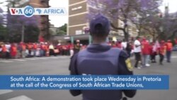 VOA60 Afrikaa - Demonstrators in Pretoria denounced the handling of corruption, the economy, and COVID-19