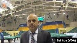 俄羅斯台球協會副主席菲爾索夫 (美國之音白樺拍攝)