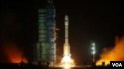 """""""天宮一號""""2011年9月29日從中國酒泉衛星發射中心升空"""