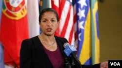 Duta Besar Amerika untuk PBB, Susan Rice menolak seruan Rusia bagi penyelidikan korban sipil di Libya.