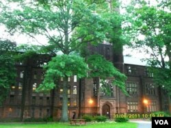 The fairytale world of a college campus. This is Mount Holyoke College.