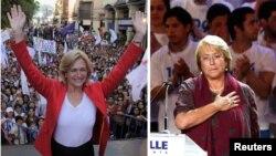 Evelyn Matthei (izquierda) y Michelle Bachelet se disputan la presidencia en la segunda vuelta de las elecciones de Chile.