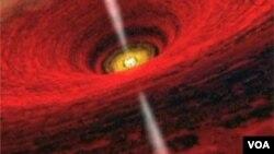 Grafičko predstavljanje snopa iks zraka koje emituju crne rupe