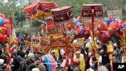 Ảnh minh họa: Lễ hội Cổ Loa tại huyện Đông Anh, Hà Nội.