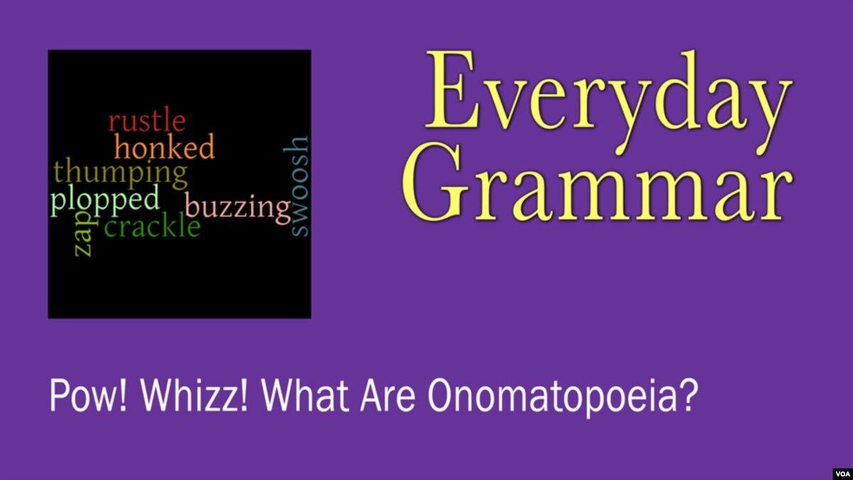 Pow Whizz What Are Onomatopoeia
