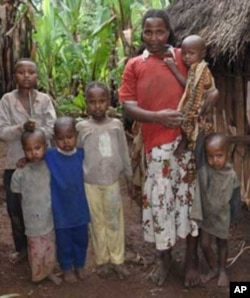 Amarech Tadele and part of her family