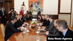 Sastanak državnog vrha Srbije sa predstavnicima četiri opštine na severu Kosova. (arhivski snimak)