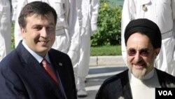 საქართველოს და ირანის პრეზიდენტები მიხეილ სააკაშვილი და ჰასან როუჰანი