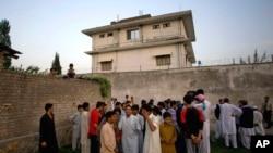 این ساختمان محل اقامت بن لادن بود و بخشی از اسناد از این مکان کشف شده است.
