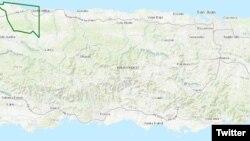 波多黎各西北部瓜加塔卡湖地图