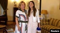 La esposa del presidente encargado de Venezuela, Fabiana Rosales, se reunió el miércoles 20 de marzo de 2019 con la primera dama de Chile, Cecilia Morel.