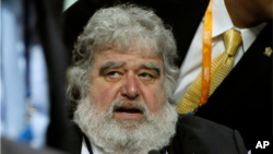 File - Former FIFA executive committee member Chuck Blazer.