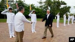 Cartagena es la primera parada del viaje del vicepresidente de EE.UU., Mike Pence a América Latina.