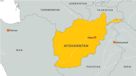 Afghanistan map with Kabul