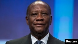 FILE - President of Ivory Coast Alassane Ouattara pictured in New York on Sept. 26, 2013.