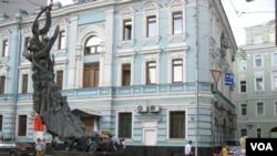 莫斯科街頭的別斯蘭恐怖襲擊遇難者紀念碑
