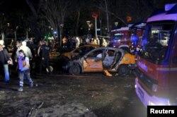 Hiện trường vụ nổ bom tự sát ở thủ đô Ankara hôm 13/3/2016.