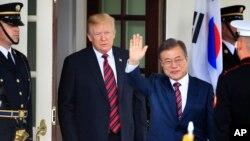 Donald Tramp və Mun Cae-in