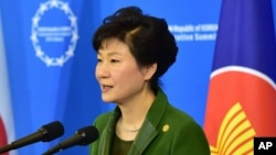 FILE - South Korean President Park Geun-Hye, Dec. 12, 2014.