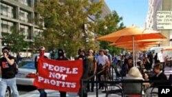上星期,示威者敦促IMF结束不公正的经济政策
