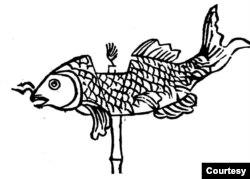 Đèn con cá chép cổ truyền (Henri Oger 1908)