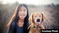 Jessica Trịnh cùng chú chó Chuppy