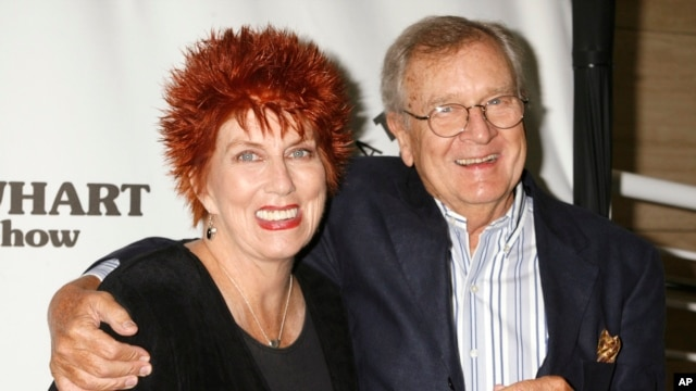 "Actress Marcia Wallace and actor Bill Daily arrive for 35th anniversary celebration of ""The Bob Newhart Show,"" Beverly Hills, Calif., Sept. 5, 2007."