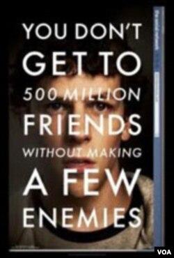 Film 'The Social Network yang bercerita tentang fenomena situs jejaring sosial Facebook mendapat delapan nominasi Academy Awards.
