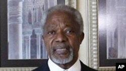 Đặc sứ Liên Hiệp Quốc Kofi Annan phát biểu trong một cuộc họp báo ở Damascus, Syria, Chủ Nhật 11/3/2012