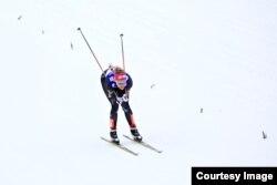 Sadie Bjornsen skied in the 2013 Nordic World Championships at Val di Fiemme, Italy. (Sarah Brunson/US Ski Team)