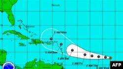 Bão nhiệt đới Ophelia hình thành ở Đại Tây Dương
