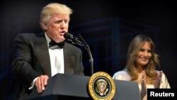 Le président des États-Unis, Donald Trump, et la Première dame Melania Trump, à Washington, États-Unis, le 4 juin 2017.