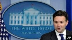 조시 어니스트 미 백악관 부대변인 (자료사진)