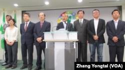 台灣最大在野黨民進黨宣佈發動倒閣案(美國之音張永泰拍攝)