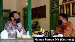 Pertemuan KSP Moeldoko dan Gubernur DIY Sri Sultan HB X di Yogyakarta, 2 Oktober 2020. (Foto: Courtesy/Humas Pemda DIY)