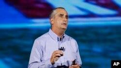 ARCHIVO- El hoy ex-CEO de Intel, Brian Krzanich, durante su participación en CES International, en Las Vegas, el 8 de enero de 2018.
