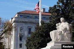 位于首都华盛顿的美国司法部大楼(2018年12月7日资料照片)