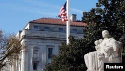 Gedung Departemen Kehakiman AS di Washington D.C, 7 Desember 2018.
