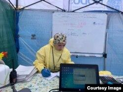 Протиепідеміологічне медмістечко у Броварах під Києвом
